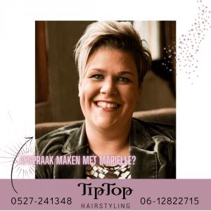 Marielle is terug bij Tiptop Hairstyling